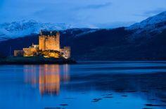 Eilan Donan Castle, medieval fortress in Scotland