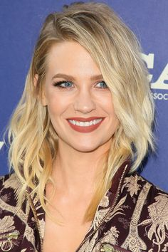 January Jones The best way to describe this cut is by calling it a long shag… Face Shape Suitability: Round, Oval, Oblong, Square, and Heart Read more at http://www.thehairstyler.com/hairstyles/oblong-face-shape-hairstyles