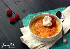 Almond Vanilla Bean Creme Brulee - from a farmgirl's dabbles