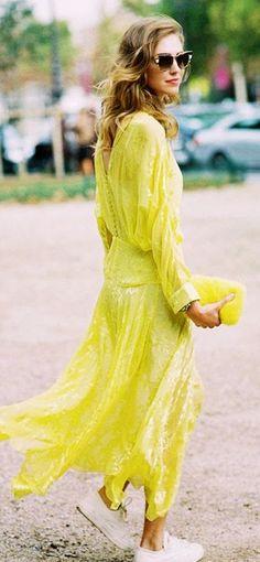 Bright Yellow Maxi Summer Dress                                                                             Source