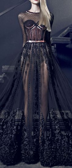 Nicolas Jebran Couture Fall/Winter 2014-2015 http://www.pinterest.com/beukay/clothing/