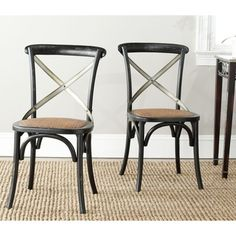 Safavieh Eleanor Black X-Back Side Chairs (Set of 2) - Overstock™ Shopping - Great Deals on Safavieh Dining Chairs