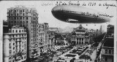 Alvoroço na capital. A chegada ao Rio do dirigível Graf Zeppelin, em 25 de maio…