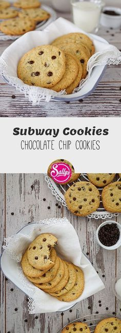 Hereby you can manage the famous Subway cookies yourself . Cookies m… Hereby you manage to bake the famous Subway cookies yourself! Cookies with chocolate chips. Soft Chocolate Chip Cookies, Chocolate Chip Pancakes, Chocolate Chips, Pecan Cookies, Torte Au Chocolat, Cupcake Cookies, Mini Cupcakes, Baking Recipes, Hardboiled