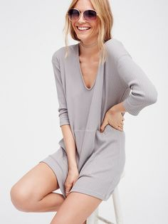 Super comfy long sleeve ribbed pullover mini dress, featuring an oversized…