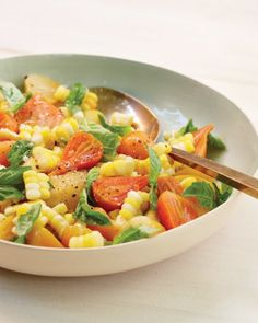 Sweet Corn with Baby Beets and Basil Recipe