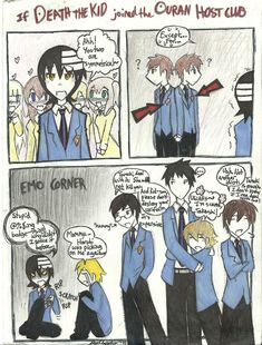 If Death the Kid joined Ouran by dragonartist22.deviantart.com on @deviantART