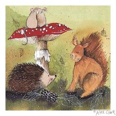 Hedgehog And Squirrel by Alex Clark