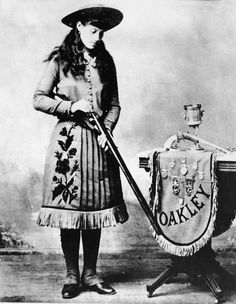 An 1890 publicity photo for one of America's greatest cowgirls, Annie Oakley.