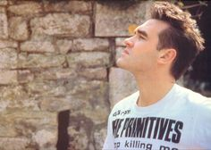 Morrissey ― the Primitives T-shirt photo shoot. (Stop Killing Me, from album 'lovely' if I do remember well... I haven't the will to search it NOW in tons of Vinyl...