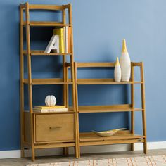 """Sunroom. Found it at AllModern - Easmor 70"""" Leaning Bookcase"""