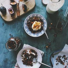 Grain free chocolate granola. Perfect afternoon breakfast snack!  Coming soon on the blog