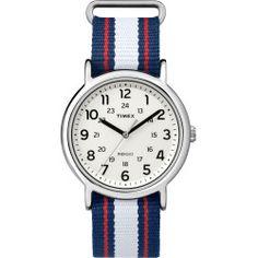 Timex Weekender Varsity Row Slip Thru Watch - Blue/Red/White - Silver/Blue/Red/White - One-Size