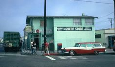 1950's Hermosa Beach. You could store your boards in the back room while the meat ball flag was up; or run like a $2.00 charge account as long as you paid by Friday.  Neat people back in the day.
