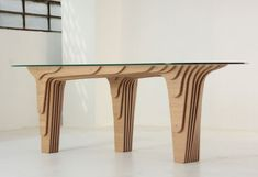 While wandering around Milan's Zona Tortona last week, we met Italian designer Davide Vercelli, who has created the Strutturaquattro Table for the manufacturer Libero Stile.  Strutturaquattro is made of twenty-nine 15mm plywood panels, that have been veneered in oak.