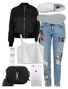 """Untitled #101"" by voiceforfashion ❤ liked on Polyvore featuring Topshop, Chicwish, Vans, Yves Saint Laurent and Forever 21"