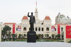 HO CHI MINH CITY, VIETNAM:  History also plays an essential role in explaining why you'll find French colonial architecture in this former colonial city. The best places to witness the French connection are Reunification Palace, Notre-Dame Basilica, Hotel Majestic and the Municipal Theatre, (which is made entirely of materials imported from France).