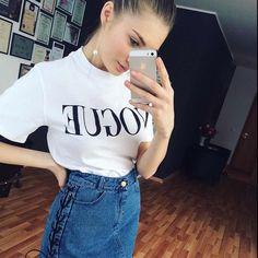 2017 New Summer T-Shirt Women Vogue High Cotton Fashion Red Letter Print  Casual Knitwear Short b26d30b1c6eab