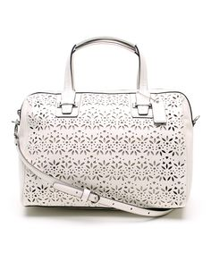 30345d89bc8 Ivory Taylor Eyelet Leather Satchel   zulily Discount Coach Purses,  Beautiful Handbags, Beautiful Bags