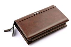 Genuine Leather Wallet Clutch Pouch Handbag Wrist Bag For Mens Business Professional Traveller Students Bag Comes With Zip Strap >>> New and awesome product awaits you, Read it now  : Christmas Luggage and Travel Gear