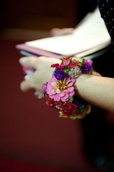 Unique Prom Flower Ideas | AHA!  The true floral bracelet, I've seen prettier and uglier, but I like them so much more!