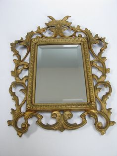 Rococco Mirror  Baroque Mirror  Wall by MissieMooVintageRoom