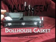Halloween Wood and Aluminum Dollhouse Miniature Casket Coffin Opens and Closes Day of the Dead Haunted Dollhouse, Haunted Dolls, Diy Dollhouse, Dollhouse Miniatures, Miniture Dollhouse, Dollhouse Miniature Tutorials, Halloween House, Halloween Crafts, Halloween Ideas