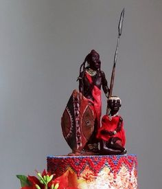 Getting to Zero - Maasai Christmas Cake by FifiCake on DeviantArt - William Hamm - African Food Unique Wedding Cakes, Beautiful Wedding Cakes, Gorgeous Cakes, Amazing Cakes, Nigerian Traditional Wedding, Traditional Wedding Cake, Africa Cake, African Wedding Cakes, Chocolate Crafts
