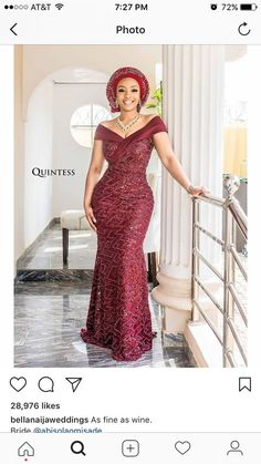 chic Woman Dresses how to dress like a french woman Nigerian Lace Dress, Nigerian Lace Styles, African Lace Styles, African Lace Dresses, African Wedding Dress, African Dresses For Women, African Attire, African Wear, Dinner Gowns