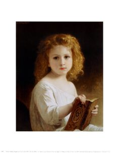 """The Story Book"" by William Adolphe Bouguereau"