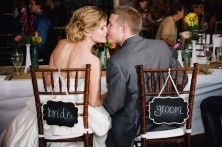 Bride and Groom Chairs add some flowers