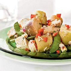 Potato, Chicken, and Fresh Pea Salad | MyRecipes.com