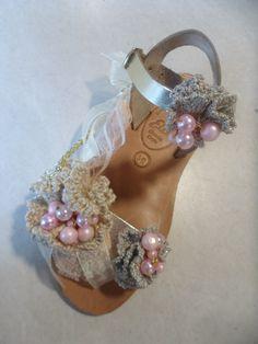 gold-pink handmade all leather sandal by ellishoes.blogspot.com
