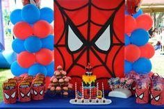 decoração para festa do Homem Aranha