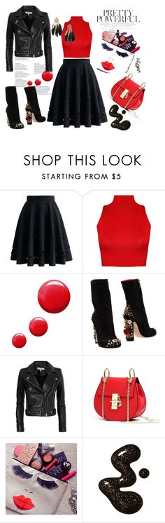 """Untitled #4"" by azra-a ❤ liked on Polyvore featuring Chicwish, WearAll, Topshop, Dolce&Gabbana and IRO"