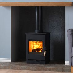 The Burley Owston 9303 Wood Burning Stove is a small stove which is also defra approved for use in smoke controlled areas. Small Space Living, Small Spaces, Living Spaces, Living Room, Inglenook Fireplace, Fireplace Design, Fireplace Ideas, Small Stove