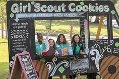 girl scout cookie booth idea - Google Search