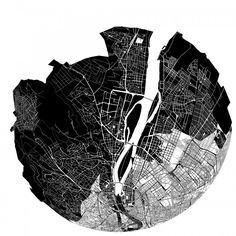 Places in the city emotionally 'closer' visualised and sonified by Kitchen Budapest #foursquare #openframeworks