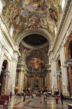 Church of Sant'Ignazio, Rome. Photo by John Elmslie.