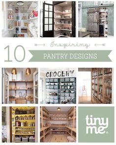 10 Inspiring Pantry Designs ~ Tinyme