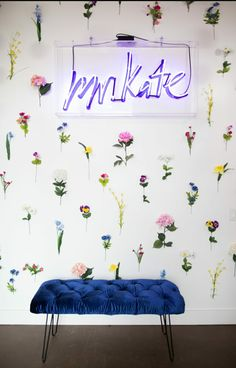 New Ideas For Wall Flower Office Bedroom Wall, Bedroom Decor, Bedroom Ideas, Bedroom Inspo, Teen Bedroom, Bedrooms, Mr Kate, Beauty Room, New Room