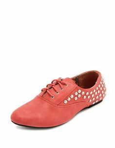 Studded Lace-Up Oxford Flat: Charlotte Russe  Remind me of a throwback to Capezios....Oh how I loved my Capezios!