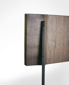 """Commissioned by Wallpaper* magazine for the """"Wallpaper* Handmade"""" project 2010. Detail of solid hardwood and blackened steel components.  Available in walnut, cherry, white oak, maple solid woods & cold-rolled steel, blackened steel, stainless steel, or bronze."""