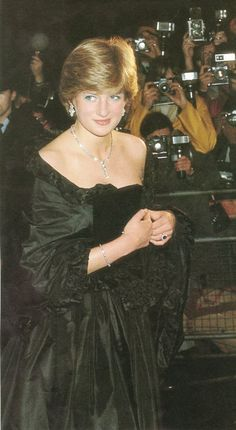 March 9, 1981: Lady Diana Spencer making her first official appearance at a gala evening at Goldsmith's Hall to raise funds for the Royal Opera House in London.