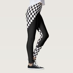 Car Racing / Chess Pattern  your backgr. & ideas LeggingsStyle AND comfort can both be king in one perfect pair of custom leggings. Custom made with care each pair of leggings is printed before being sewn allowing for fun designs on every square inch. Medium weight fabric is sturdy yet breathable stretches to fit your body hugs in all the right places and bounces back after washing. You can wear your leggings over and over and they won't lose their shape. Get comfy and look cool with your…