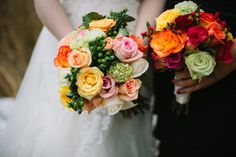 Fall-inspired bouquets. Photography by dianeandmike.ca, Floral Design DIY