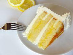 Triple Lemon Cake-- Lemon Cake with Lemon Curd and Lemon Buttercream