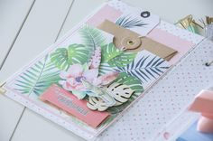 Mini Albums Scrapbook, Scrapbook Blog, Scrapbook Cards, Scrapbooking Ideas, Diy Crafts For Girls, Tropical, All Paper, Happy Mail, Crafty Projects
