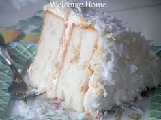 Welcome Home Blog: Mom's Coconut Cake