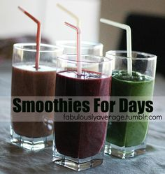 Fabulously Average, Recipe: Smoothies for Days - 4 healthy smoothie recipes
